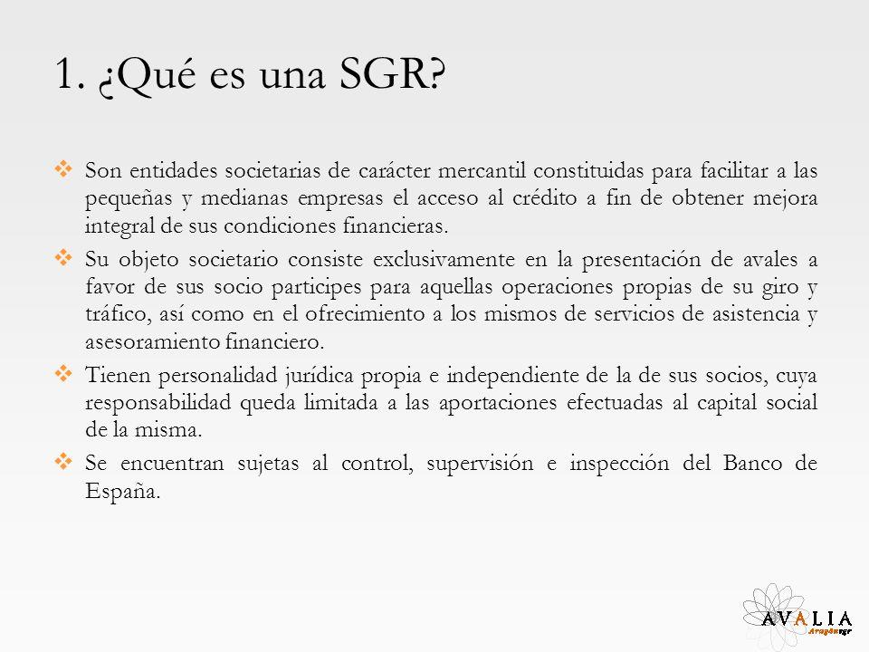 1. ¿Qué es una SGR? Son entidades societarias de carácter mercantil constituidas para facilitar a las pequeñas y medianas empresas el acceso al crédit