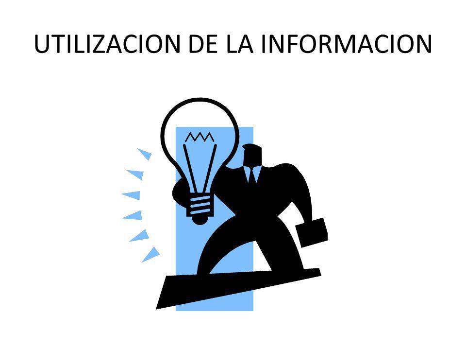 UTILIZACION DE LA INFORMACION