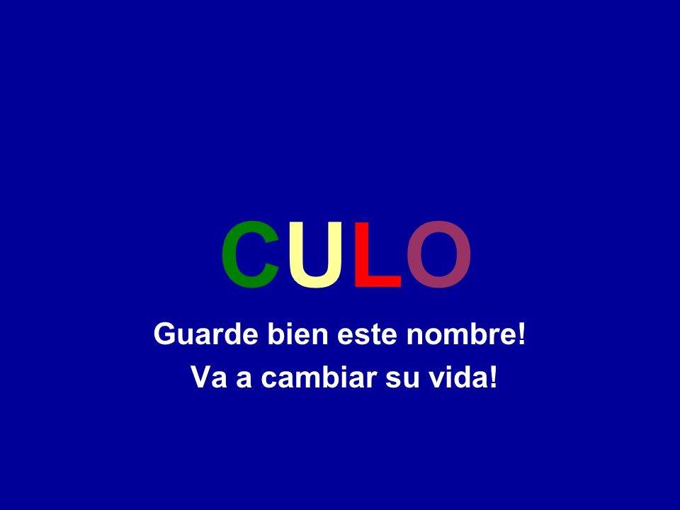 Este proyecto va acabar con la burocracia de una vez por todas, dando a cada argentino,una Cédula Unica de Libre Opción (CULO).