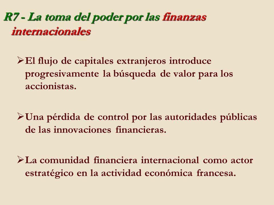 R7 - La toma del poder por las finanzas internacionales El flujo de capitales extranjeros introduce progresivamente la búsqueda de valor para los accionistas.
