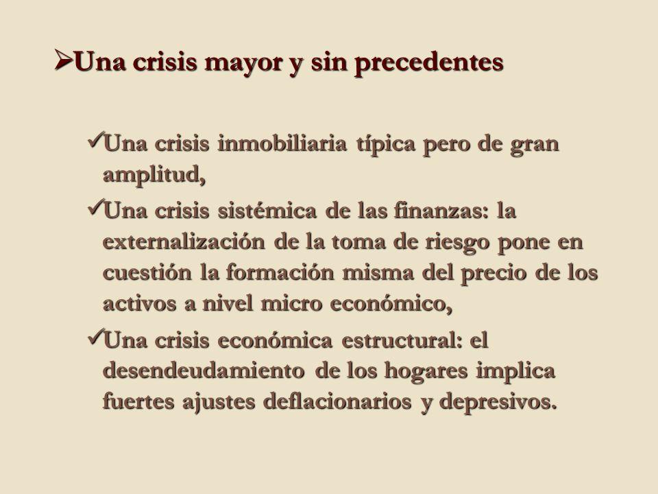Una crisis mayor y sin precedentes Una crisis mayor y sin precedentes Una crisis inmobiliaria típica pero de gran amplitud, Una crisis inmobiliaria tí