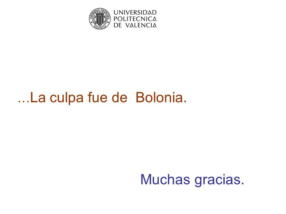 … La culpa fue de Bolonia. Muchas gracias.