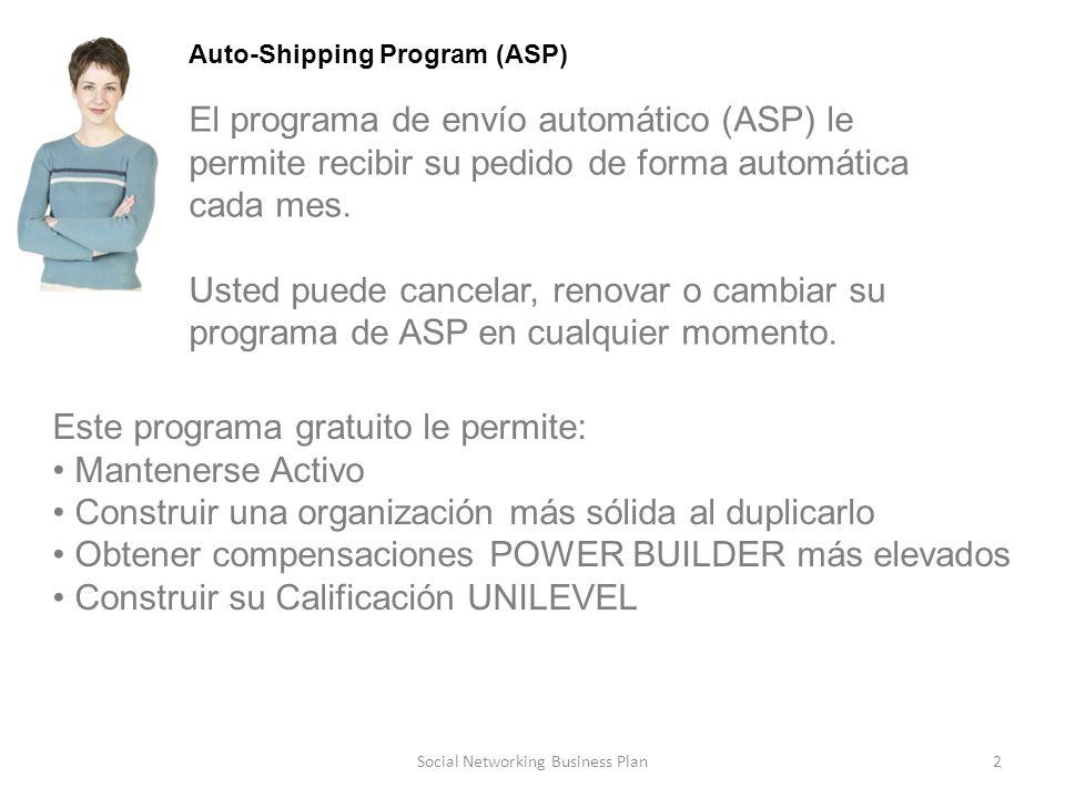 2 Auto-Shipping Program (ASP) El programa de envío automático (ASP) le permite recibir su pedido de forma automática cada mes.