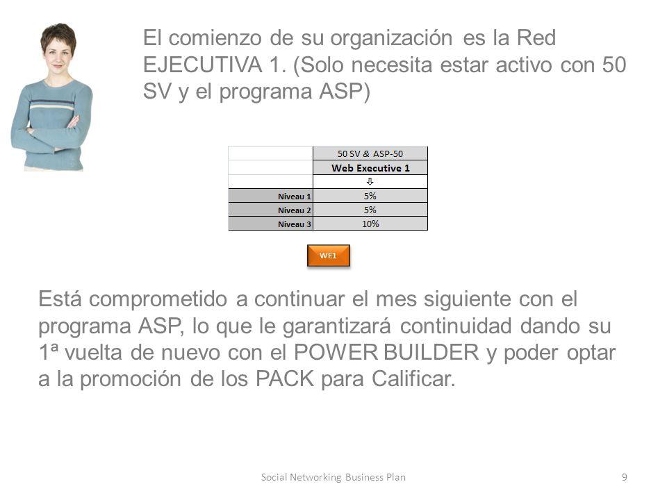 9Social Networking Business Plan El comienzo de su organización es la Red EJECUTIVA 1.