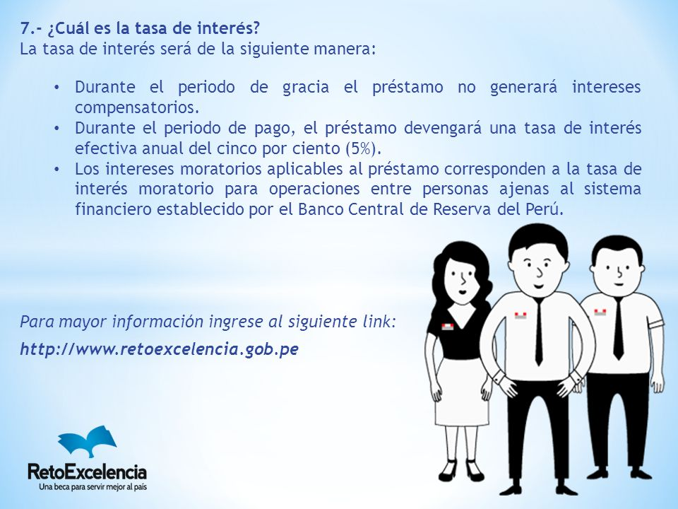 7.- ¿Cuál es la tasa de interés.