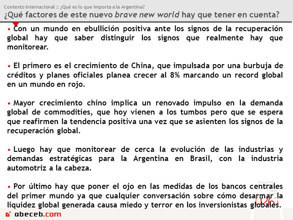 Contexto Internacional :: ¿Qué es lo que importa a la Argentina.