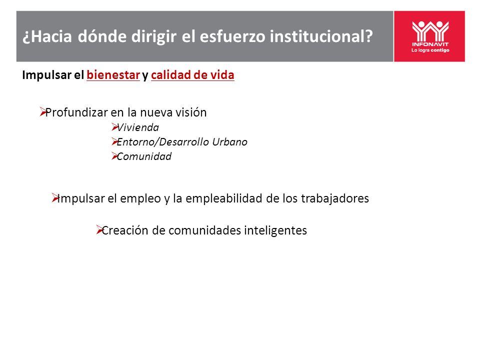 ¿Hacia dónde dirigir el esfuerzo institucional.