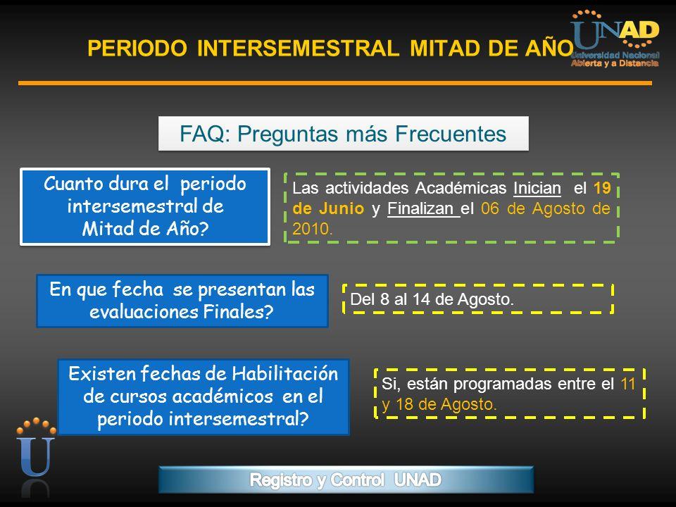 PROGRAMA FORMACIÓN DE FORMADORES PERIODO INTERSEMESTRAL MITAD DE AÑO FAQ: Preguntas más Frecuentes. Cuanto dura el periodo intersemestral de Mitad de