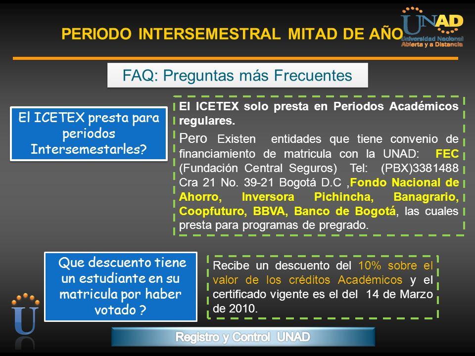 PROGRAMA FORMACIÓN DE FORMADORES PERIODO INTERSEMESTRAL MITAD DE AÑO Ingrese para realizar su inscripción y generar su recibo de pago: ESTUDIANTES NUEVOS http://www.unad.edu.co http://www.unadvirtual.org/moodle/preinscripcion/preinscripcio n_actualizada2008/index.php?peraca=50&nivel=1