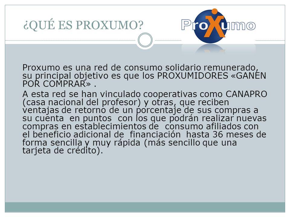 CONVENIO PURIFIL - PROXUMO Hemos realizado convenio comercial con PROXUMO haciendo parte de este proyecto donde los clientes ganarán por comprar nuestros productos y pagar hasta en 36 meses.