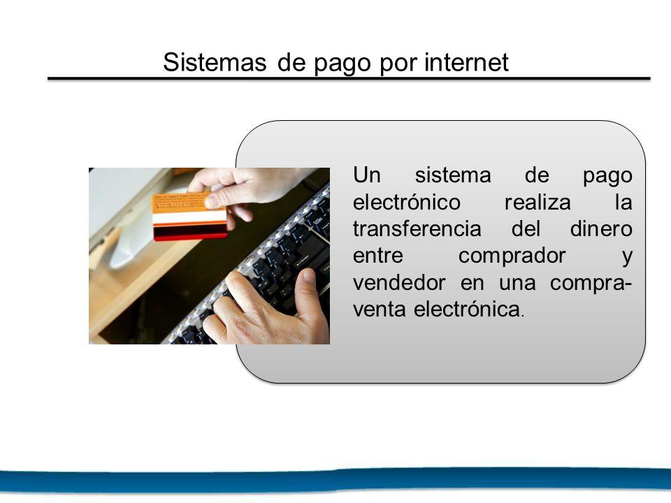 Un sistema de pago electrónico realiza la transferencia del dinero entre comprador y vendedor en una compra- venta electrónica. Sistemas de pago por i