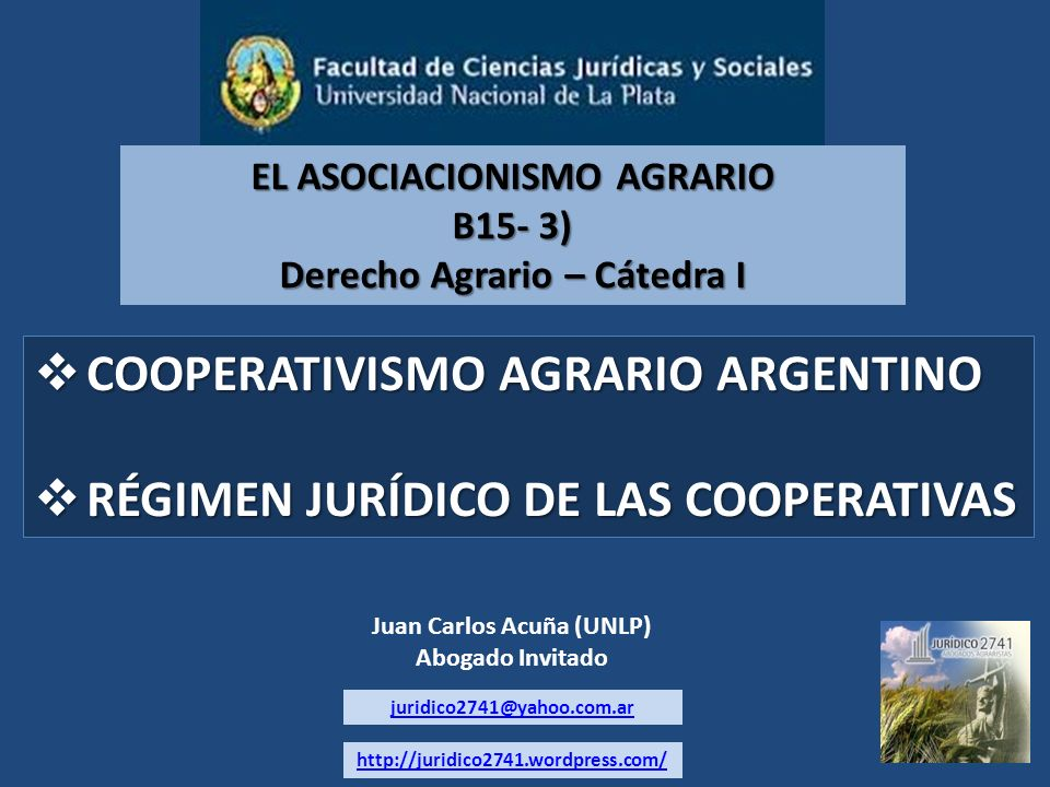 COOPERATIVISMO AGRARIO ARGENTINO COOPERATIVISMO AGRARIO ARGENTINO RÉGIMEN JURÍDICO DE LAS COOPERATIVAS RÉGIMEN JURÍDICO DE LAS COOPERATIVAS EL ASOCIAC