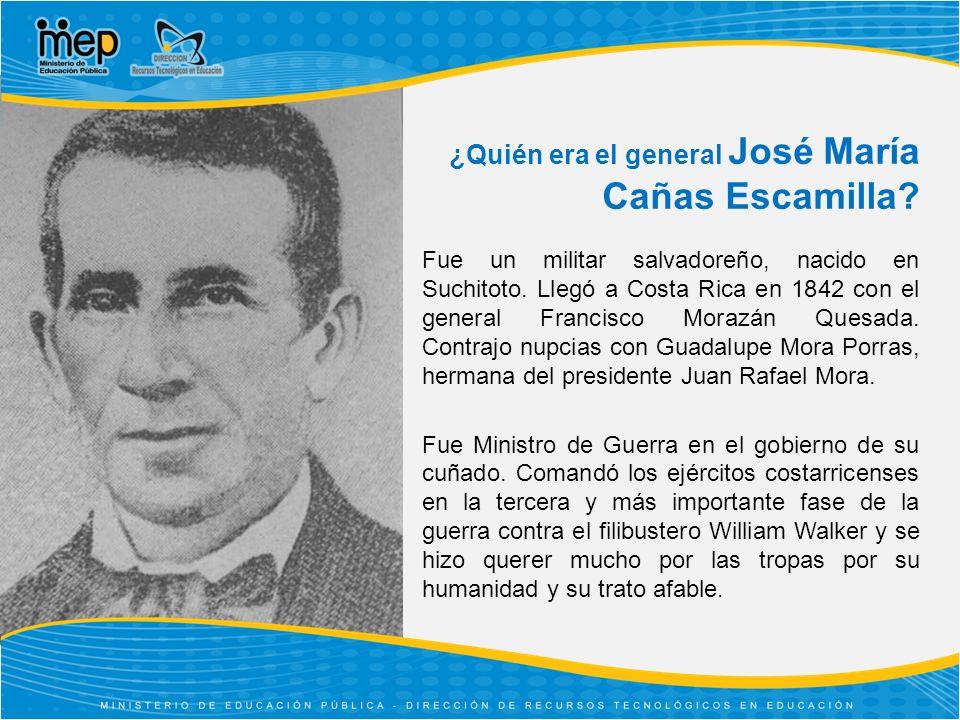 ¿Quién era el general José María Cañas Escamilla.Fue un militar salvadoreño, nacido en Suchitoto.