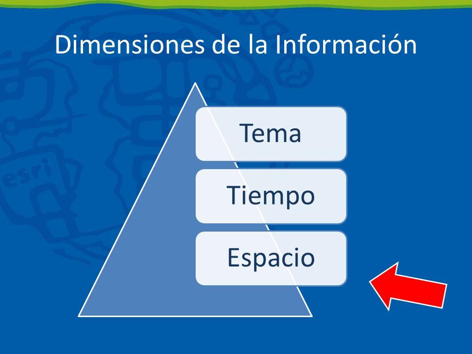 Dimensiones de la Información TemaTiempoEspacio