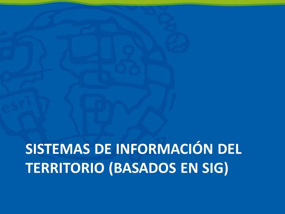 SISTEMAS DE INFORMACIÓN DEL TERRITORIO (BASADOS EN SIG)