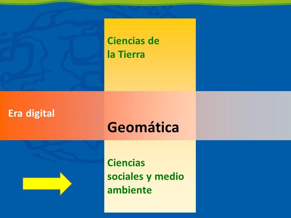 Ciencias de la Tierra Ciencias sociales y medio ambiente Era digital Geomática