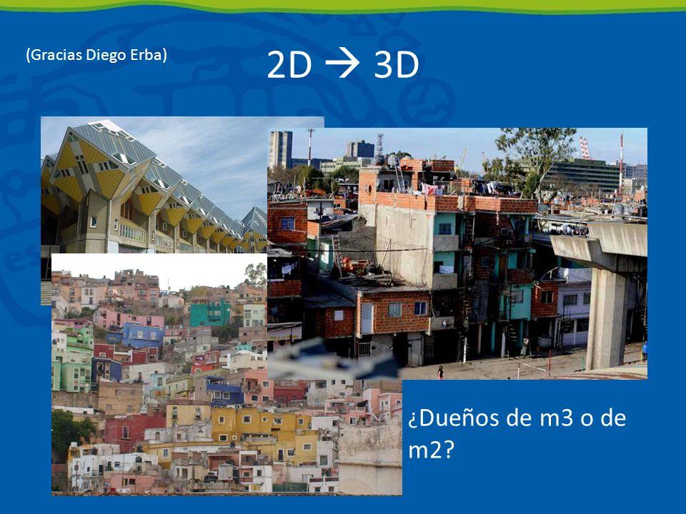 2D 3D ¿ Dueños de m3 o de m2? (Gracias Diego Erba)