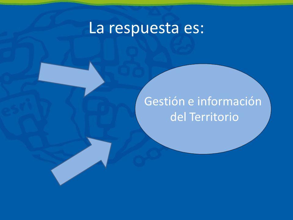 Gestión e información del Territorio La respuesta es: