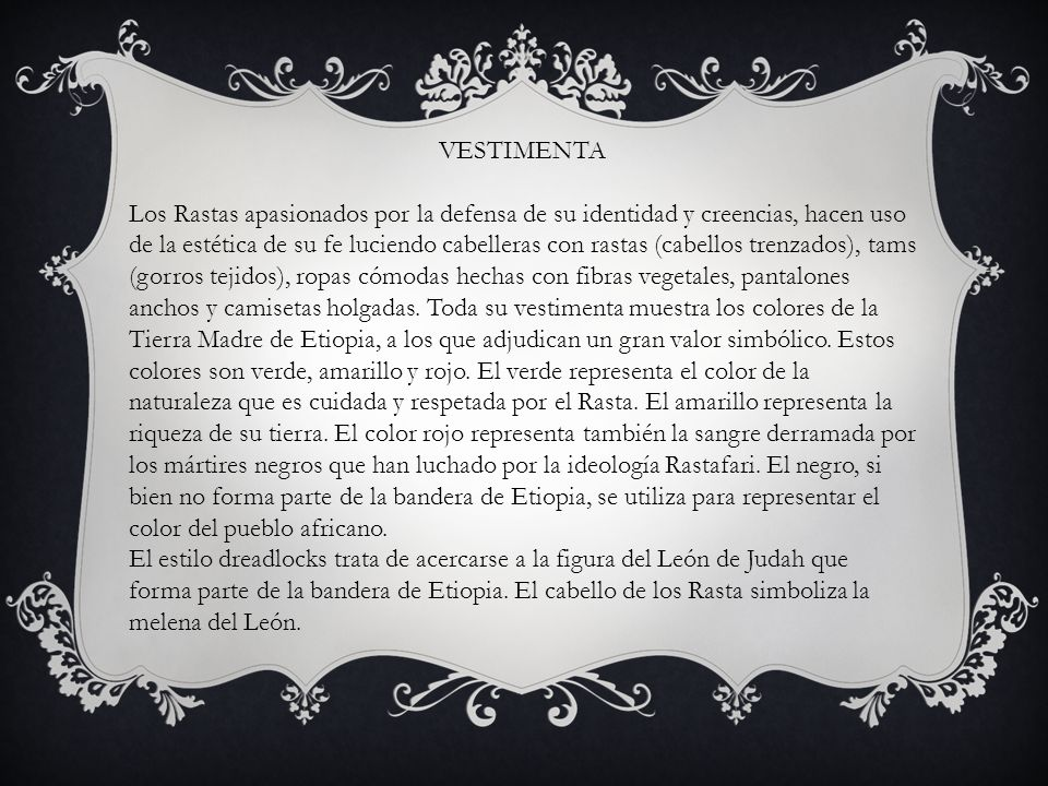 Ceremonias Hay varios tipos de ceremonias eclesiásticas rastafaris.