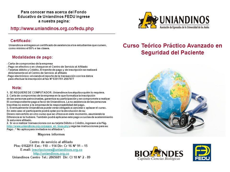 Para conocer mas acerca del Fondo Educativo de Uniandinos FEDU ingrese a nuestra pagina: http://www.uniandinos.org.co/fedu.php Certificado: Uniandinos