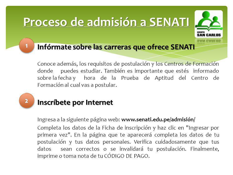 Infórmate sobre las carreras que ofrece SENATI Conoce además, los requisitos de postulación y los Centros de Formación donde puedes estudiar.