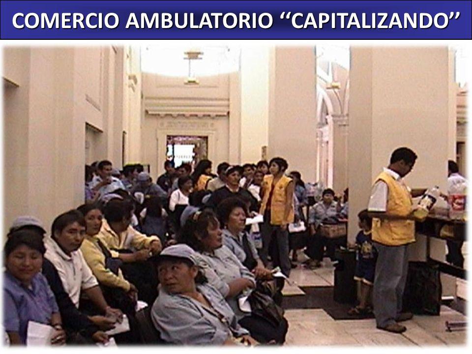 COMERCIO AMBULATORIO CAPITALIZANDO