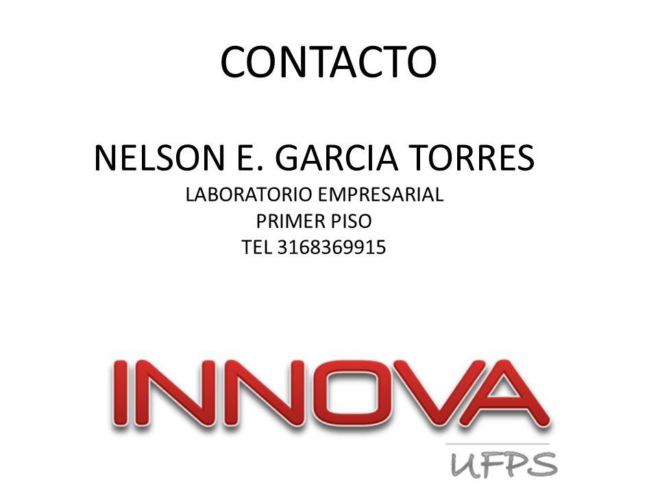 CONTACTO NELSON E. GARCIA TORRES LABORATORIO EMPRESARIAL PRIMER PISO TEL 3168369915