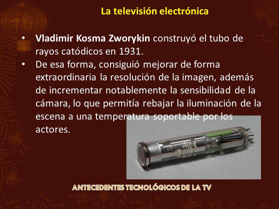 Vladimir Kosma Zworykin construyó el tubo de rayos catódicos en 1931. De esa forma, consiguió mejorar de forma extraordinaria la resolución de la imag