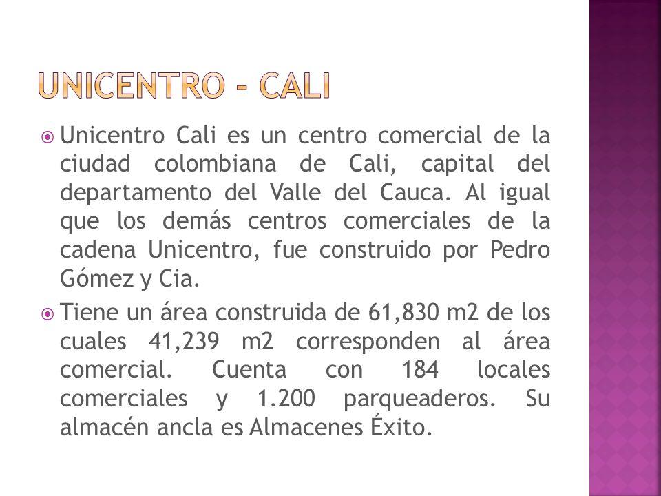 Unicentro Cali es un centro comercial de la ciudad colombiana de Cali, capital del departamento del Valle del Cauca. Al igual que los demás centros co