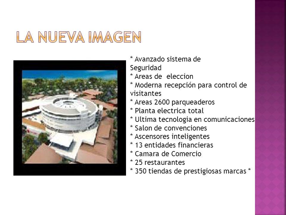 * Avanzado sistema de Seguridad * Areas de eleccion * Moderna recepción para control de visitantes * Areas 2600 parqueaderos * Planta electrica total