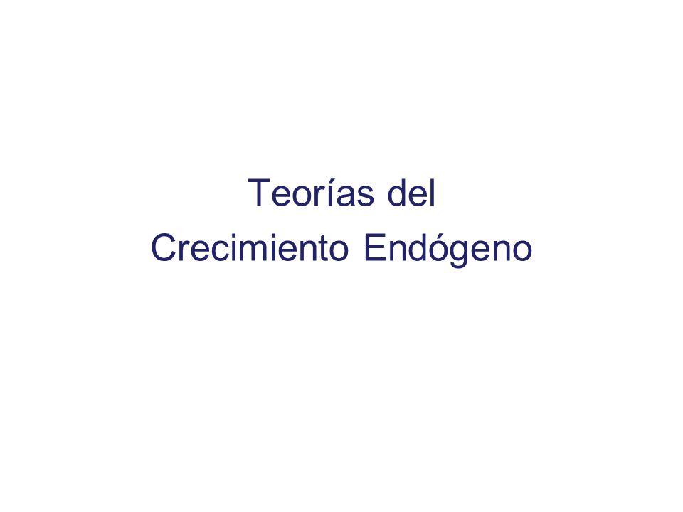 Teorías del Crecimiento Endógeno