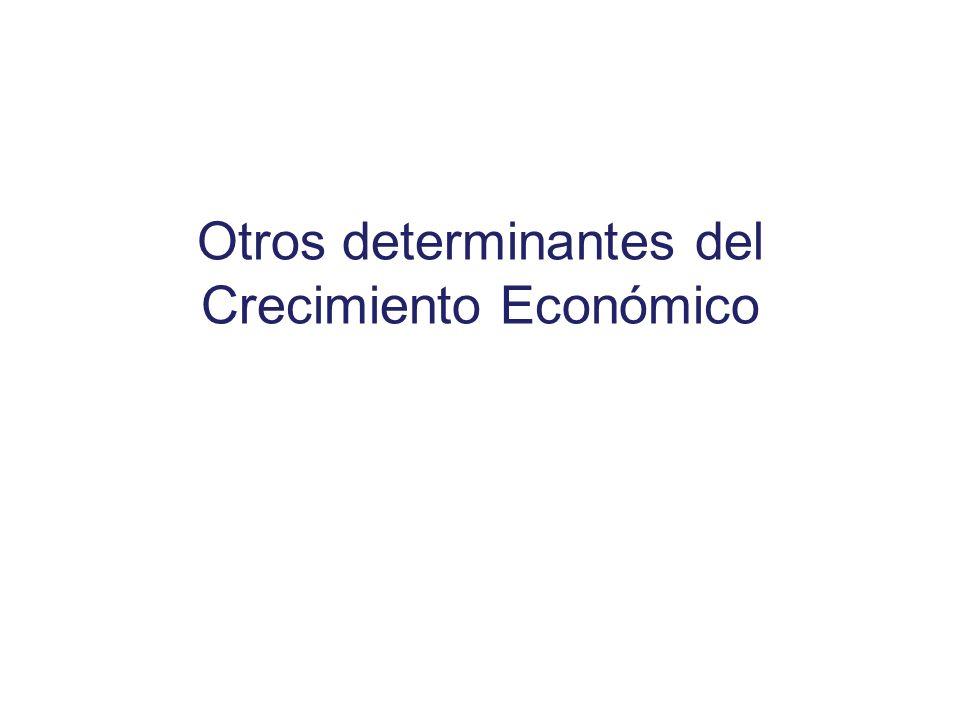 Otros determinantes del Crecimiento Económico