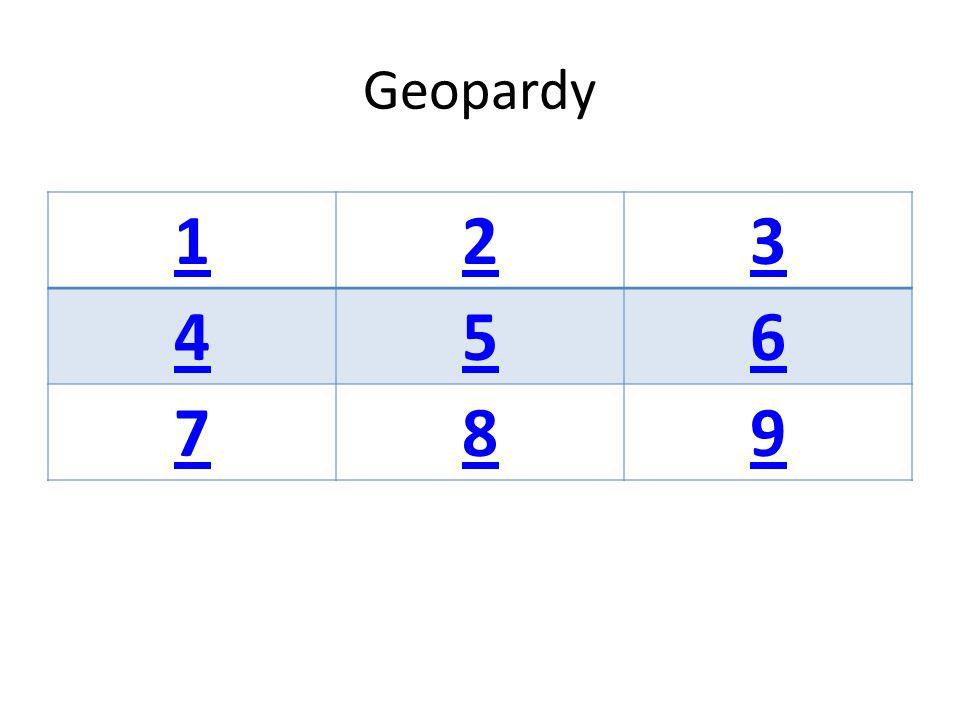 Geopardy 123 456 789