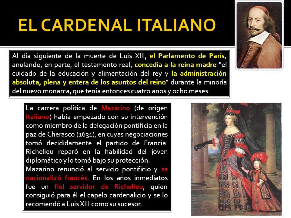 Al mismo tiempo que ponía en manos de Mazarino la administración del reino, Ana de Austria confió la dirección de su alma a Vicente de Paúl y asoció a los dos hombres en la dirección de los asuntos eclesiásticos en el Consejo de Conciencia.