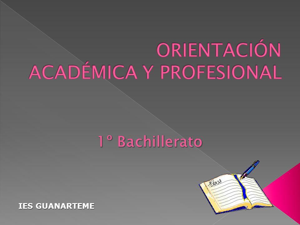 ESTRUCTURA DEL BACHILLERATO PAU NUEVOS ESTUDIOS UNIVERSITARIOS FORMACIÓN PROFESIONAL ESPECÍFICA