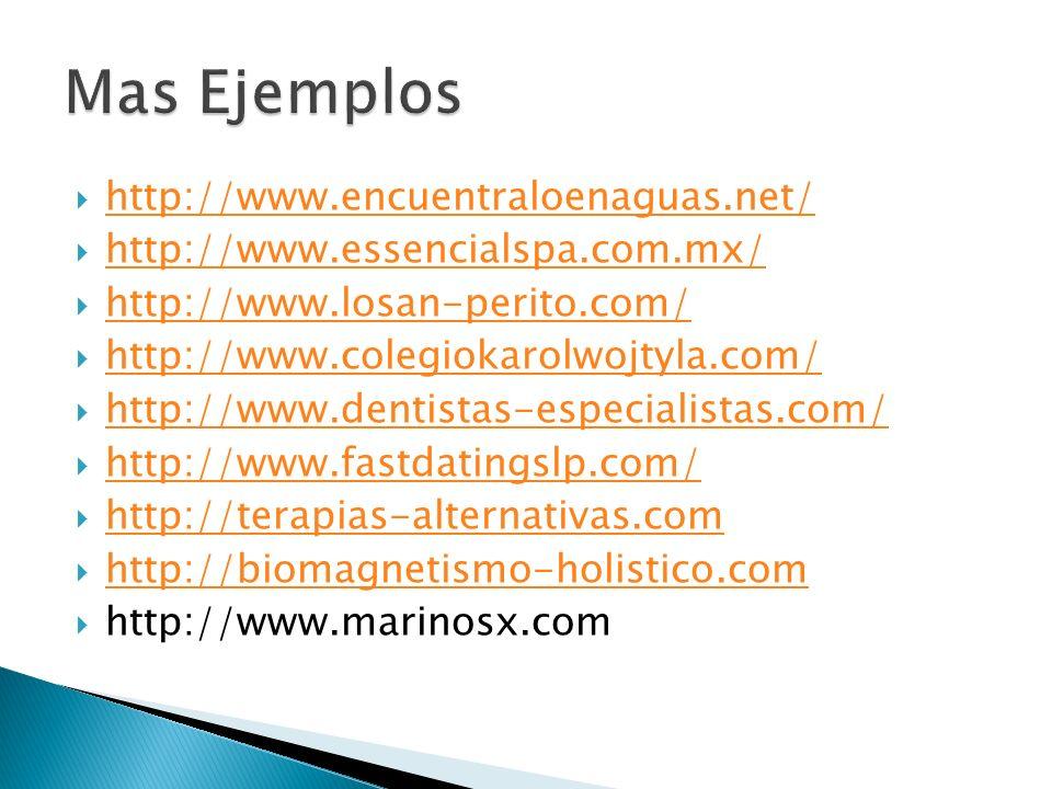 http://www.encuentraloenaguas.net/ http://www.essencialspa.com.mx/ http://www.losan-perito.com/ http://www.colegiokarolwojtyla.com/ http://www.dentist