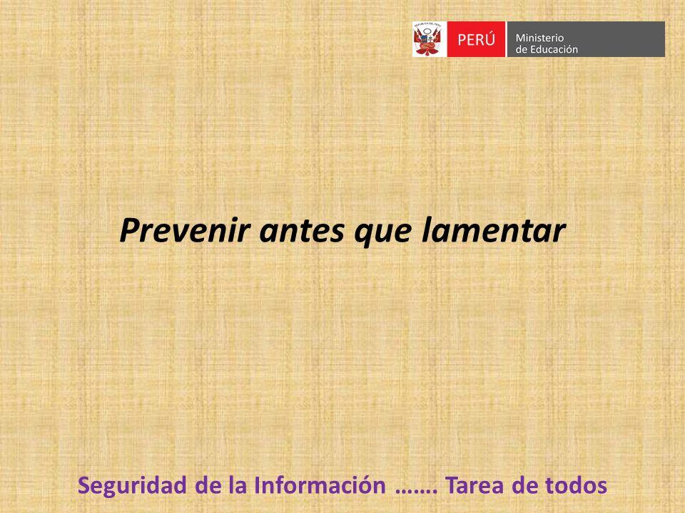 Prevenir antes que lamentar