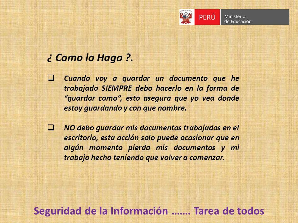 Seguridad de la Información …….
