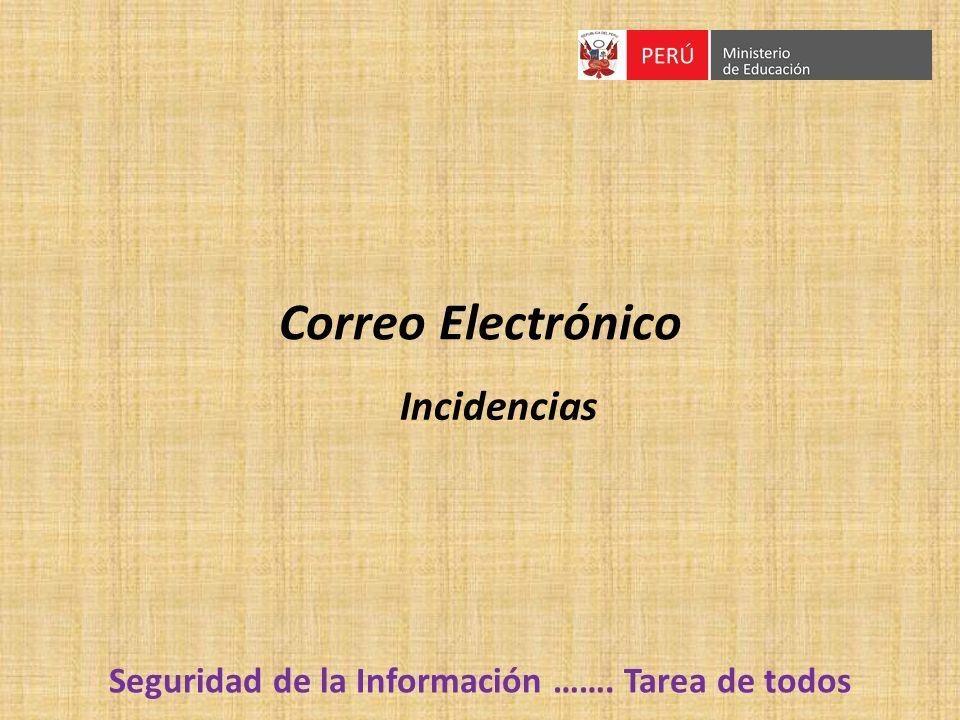 Correo Electrónico Incidencias