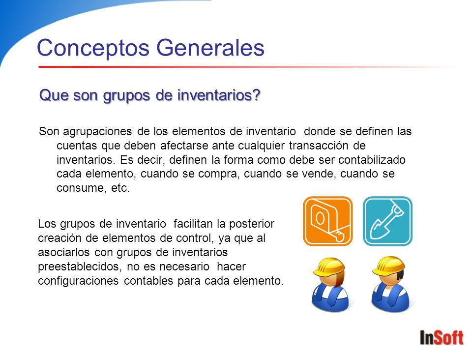 Conceptos Generales Que son elementos de control.