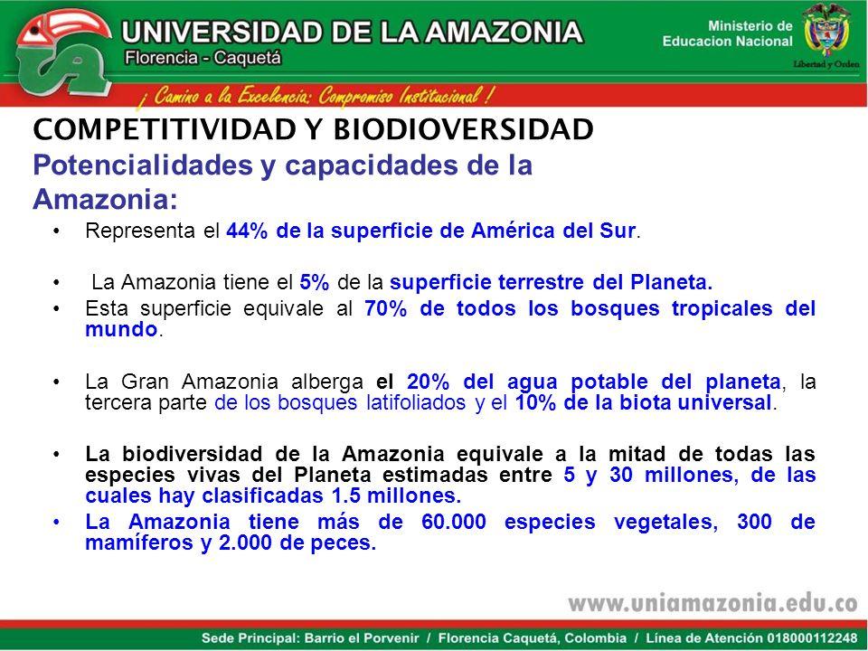 Somos la 2da potencial mundial en biodiversidad por km 2 Tenemos el 14% de las diferentes formas de vida existentes. Primer lugar a nivel mundial en: