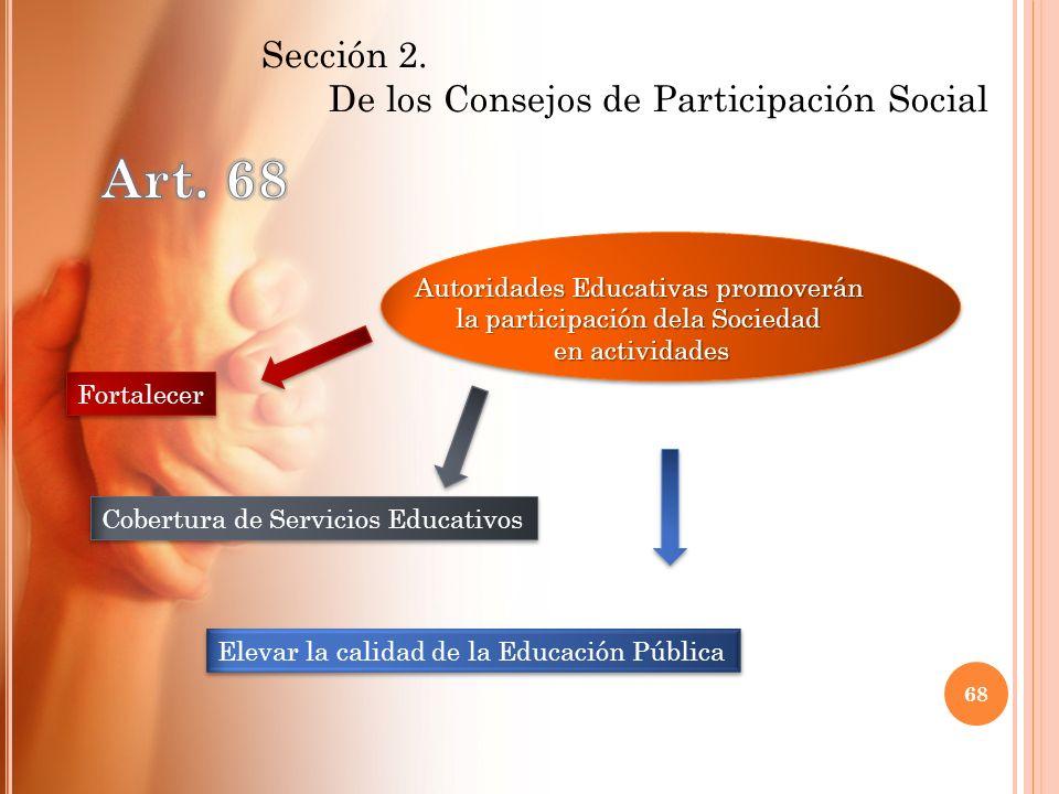 Fortalecer Elevar la calidad de la Educación Pública Cobertura de Servicios Educativos Autoridades Educativas promoverán la participación dela Socieda