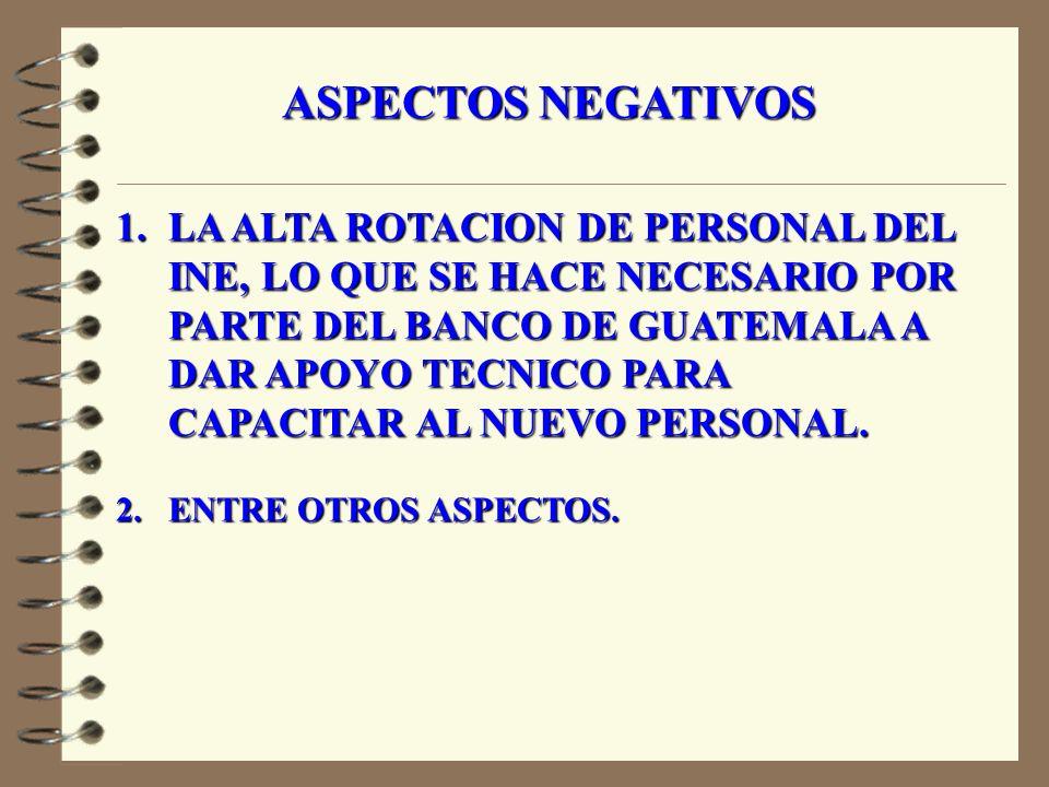 ASPECTOS POSITIVOS 1.
