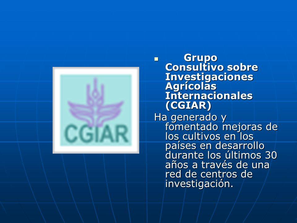 Grupo Consultivo sobre Investigaciones Agrícolas Internacionales (CGIAR) Grupo Consultivo sobre Investigaciones Agrícolas Internacionales (CGIAR) Ha g