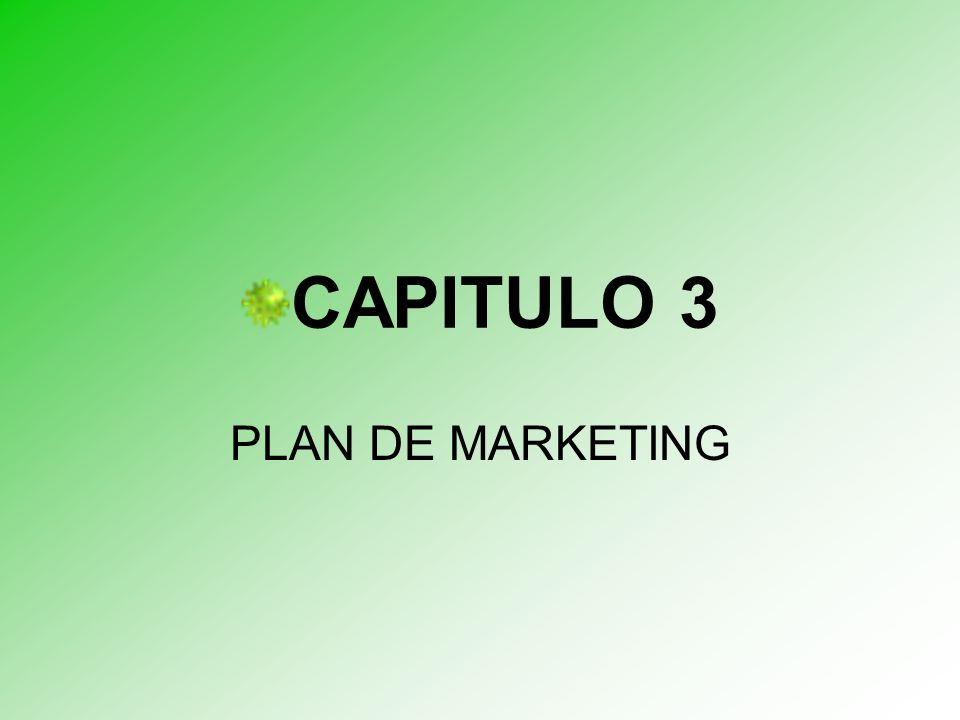 CAPITULO 3 PLAN DE MARKETING