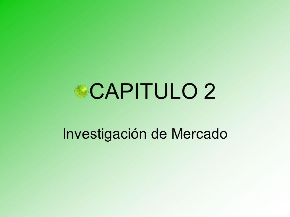 CAPITULO 2 Investigación de Mercado