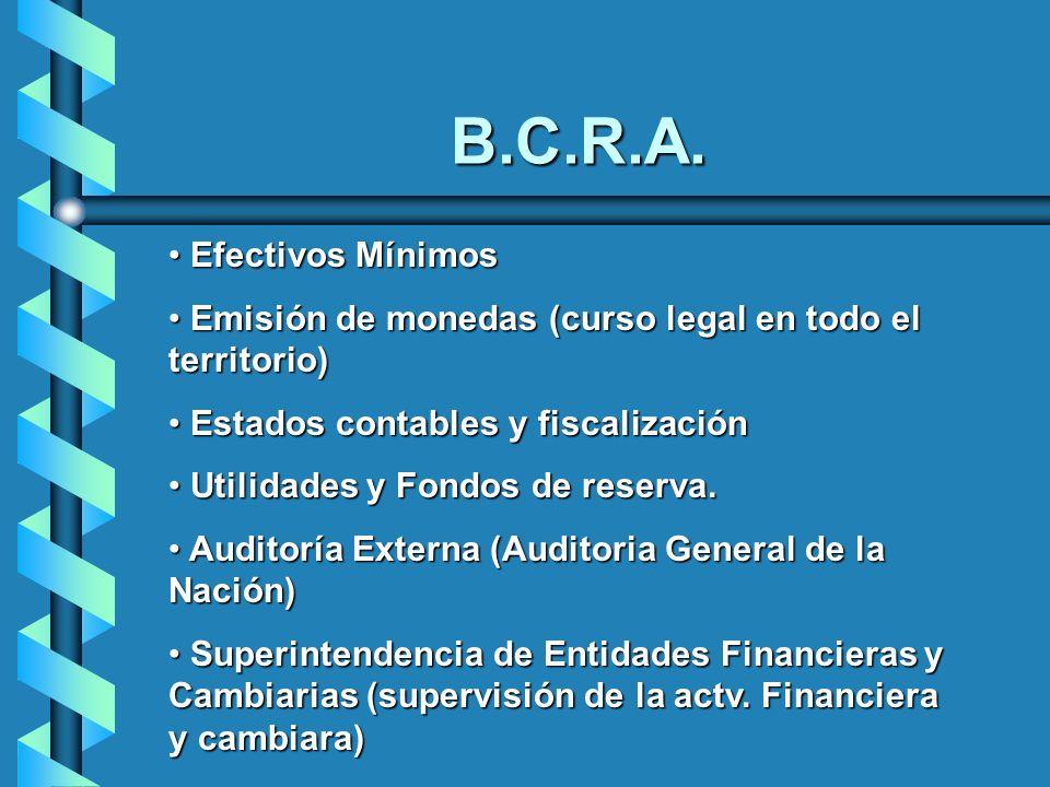 Efectivos Mínimos Efectivos Mínimos Emisión de monedas (curso legal en todo el territorio) Emisión de monedas (curso legal en todo el territorio) Esta