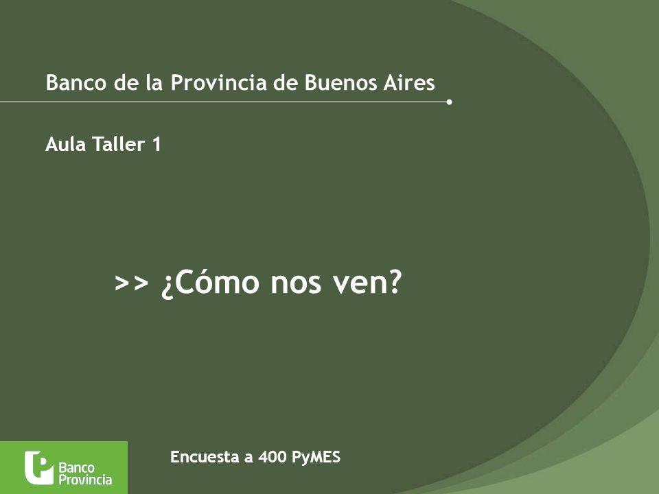 Banco de la Provincia de Buenos Aires Aula Taller 1 >> ¿Cómo nos ven? Encuesta a 400 PyMES