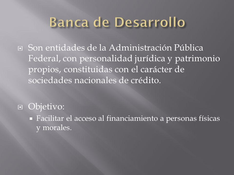 Son entidades de la Administración Pública Federal, con personalidad jurídica y patrimonio propios, constituidas con el carácter de sociedades naciona