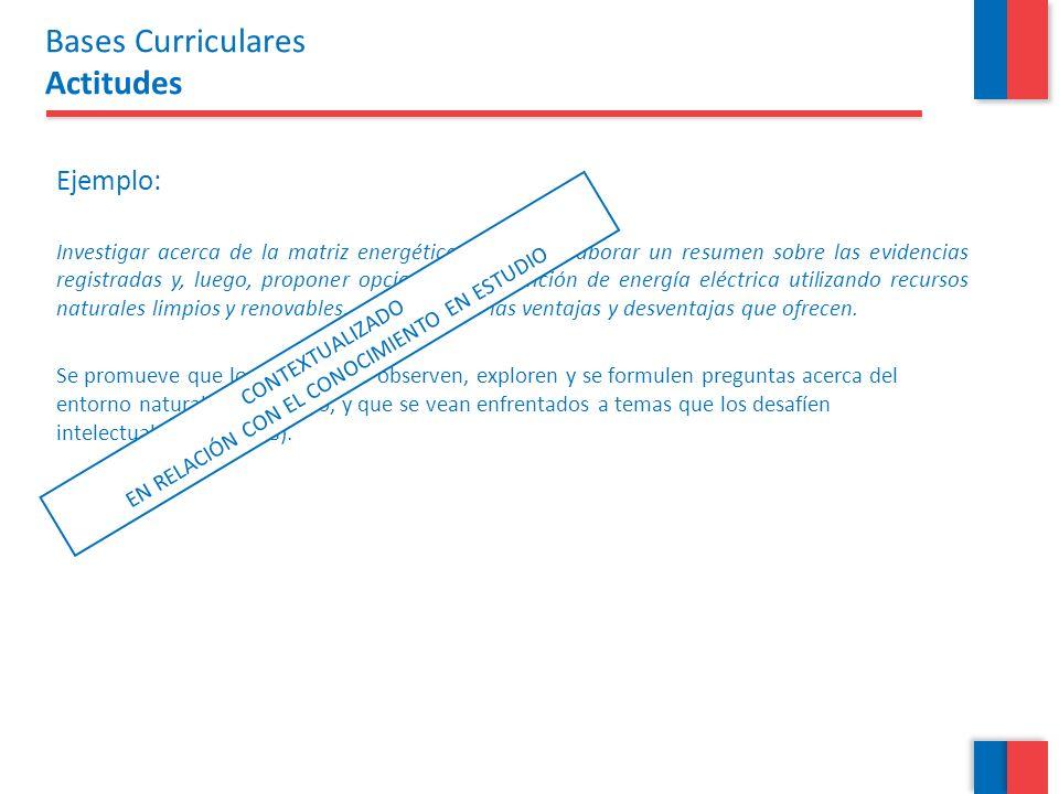 Ejemplo: Investigar acerca de la matriz energética de Chile, elaborar un resumen sobre las evidencias registradas y, luego, proponer opciones de obten